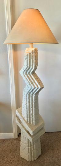 Memphis-Style Sculptural Floor Lamp | Chairish