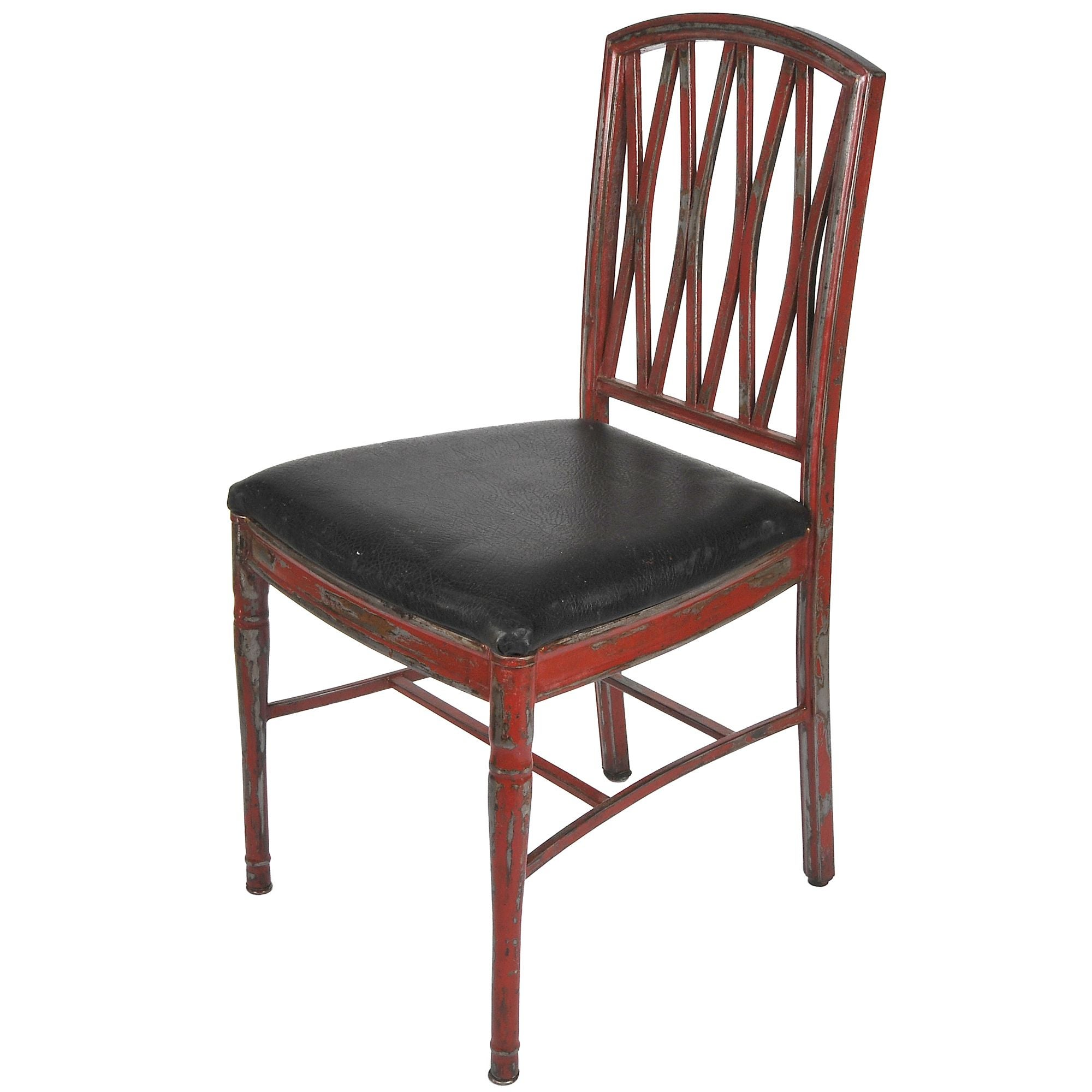 Refurbished Distressed Metal Dining Chair  Chairish