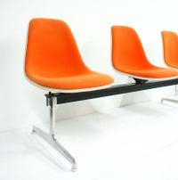 Orange Eames Herman Miller La Fonda Chair Tandem | Chairish