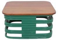 Bentwood Coffee Table in Emerald   Chairish
