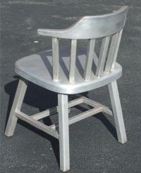 Mid-Century Industrial Aluminum, Six Dining Chairs | Chairish
