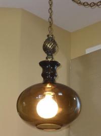 Vintage Mid Century Modern Hanging Swag Globe Light Lamp W ...