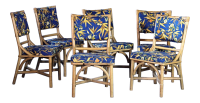 Mid-Century Modern Rattan Dining Side Chairs - Set of 6 ...