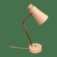 Mid-Century Brass & White Desk Table Lamp | Chairish
