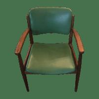 Mid-Century Green Arm Chair | Chairish
