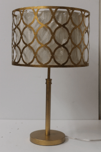 Modern Gold Metal Table Lamp | Chairish