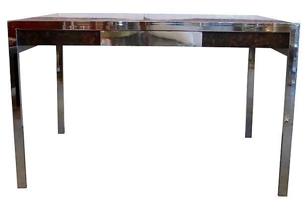Faux Marble  Chrome Desk  Chairish