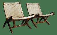 Mid Century Modern Yugoslavian Woven Folding Lounge Chairs ...