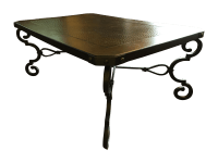 Burnhardt Furniture Hammered Copper Coffee Table | Chairish