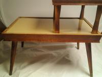 Vintage Mid-Century 2 Tier Side Table | Chairish