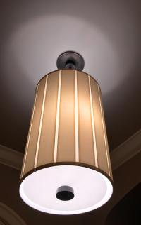 Barbara Barry Perfect Pleat 2-Light Hanging Shade   Chairish
