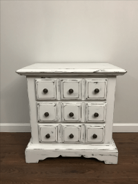 Vintage Shabby Chic Nightstand | Chairish