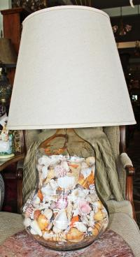 Shell-Filled Table Lamp | Chairish