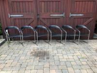 Mid-Century Chrome & Leather Cantilever Chairs - Set of 6 ...