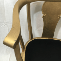 Gold Claw Foot Chair | Chairish