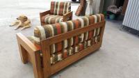 Mid-Century 1970s Sofa and Lounge Chair Set | Chairish