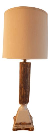 Vintage Rustic Farmhouse Table Lamp   Chairish