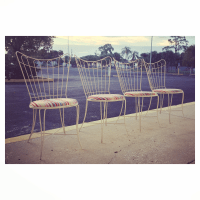 Homecrest Wire Patio Chairs