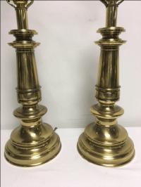Vintage Stiffel Brass Lamps - a Pair   Chairish