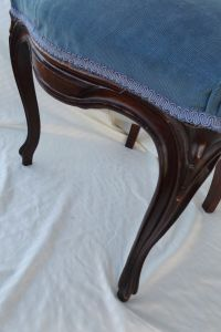 Victorian Ladies Parlor Accent Chair | Chairish