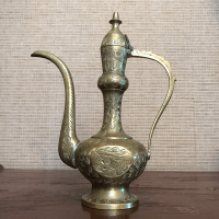 Antique Brass Genie Lamp Ewer