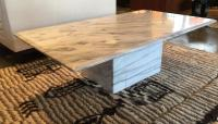 Carrara Marble Coffee Table | Chairish