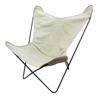 Knoll Hardoy White Butterfly Chair | Chairish