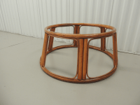 Vintage Round Bamboo Coffee Table Base | Chairish