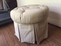Round Fabric Ottoman | Chairish