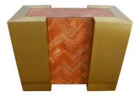 Mid-Century Modern Marble & Brass Dining Table Console ...