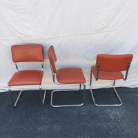 Mid-Century Chrome & Vinyl Dining Chairs - Set of 6 | Chairish