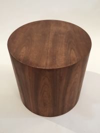 Mid-Century Drum Shape Side Table | Chairish