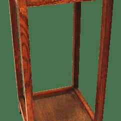Fishing Chair Umbrella Holder Yellow Accent Antique Wood Rod | Chairish