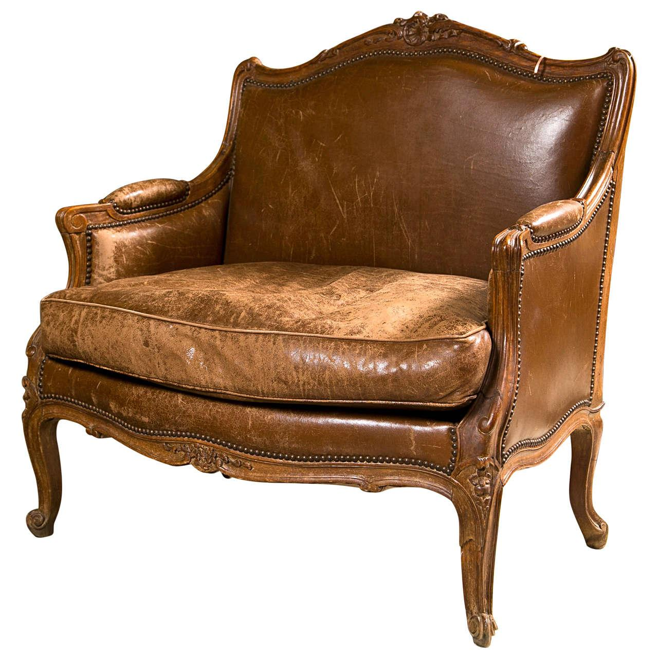 French Provincial Style Bergere Chair  Chairish