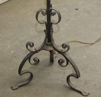 Wrought Iron Lantern Standing Lamp | Chairish