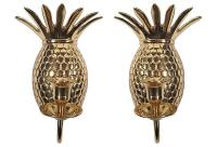 Pineapple Brass Sconces - A Pair | Chairish