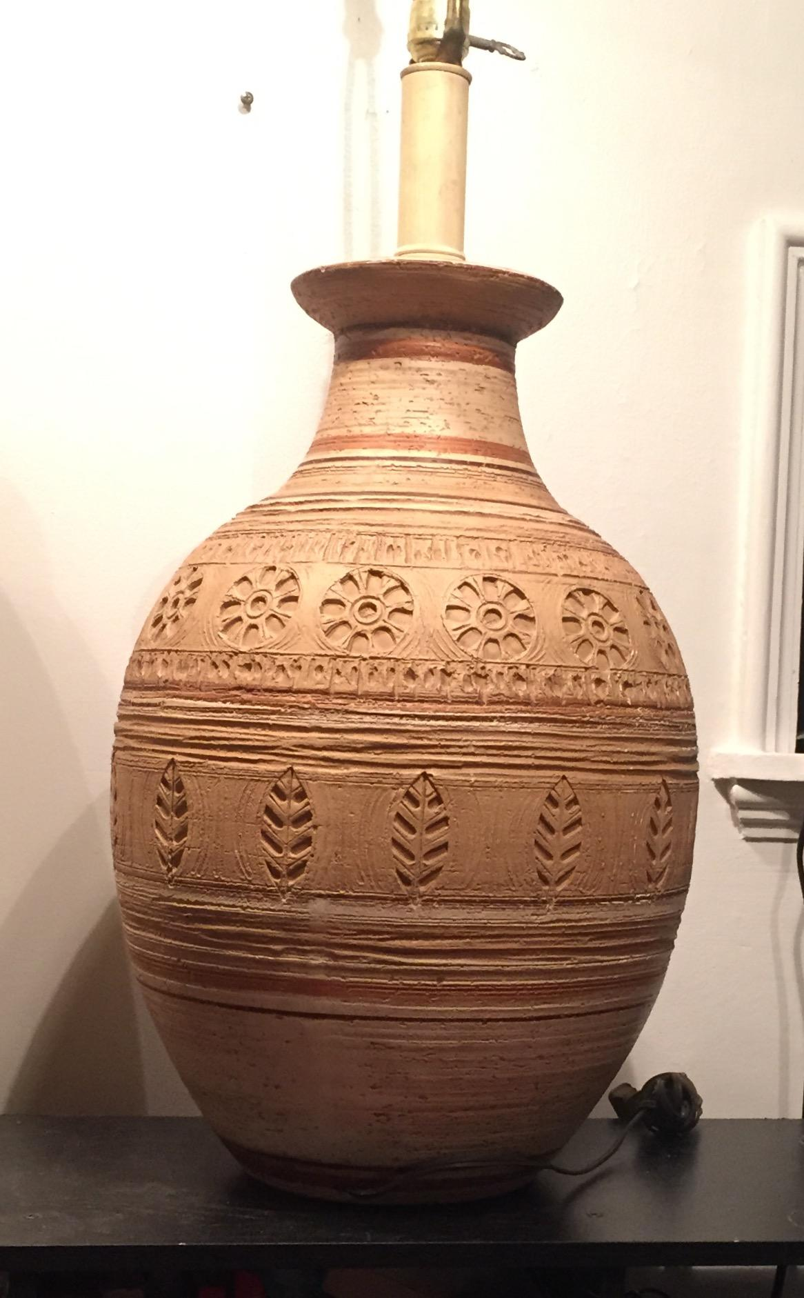 Large MCM Casual of California Pottery Lamp
