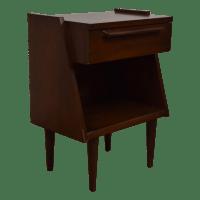 Mid-Century Modern Sculpted Nightstand | Chairish