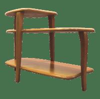 Heywood-Wakefield Mid-Century 3-Tier Side Table | Chairish