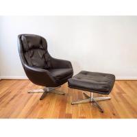 Mid-Century Selig Egg Lounge Chair & Ottoman | Chairish