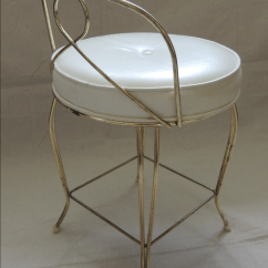 Hickory Chair Vanity Stool Unusual Bedroom Chairs Vintage Brass | Chairish