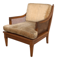 Vintage Mid Century Cane Back Lounge Chair | Chairish