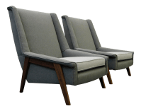 Dux Style Mid-Century Danish Lounge Chairs - A Pair | Chairish