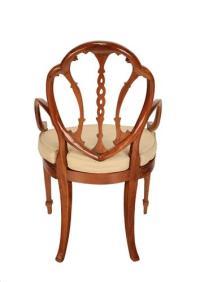 English Edwardian Painted Armchair | Chairish