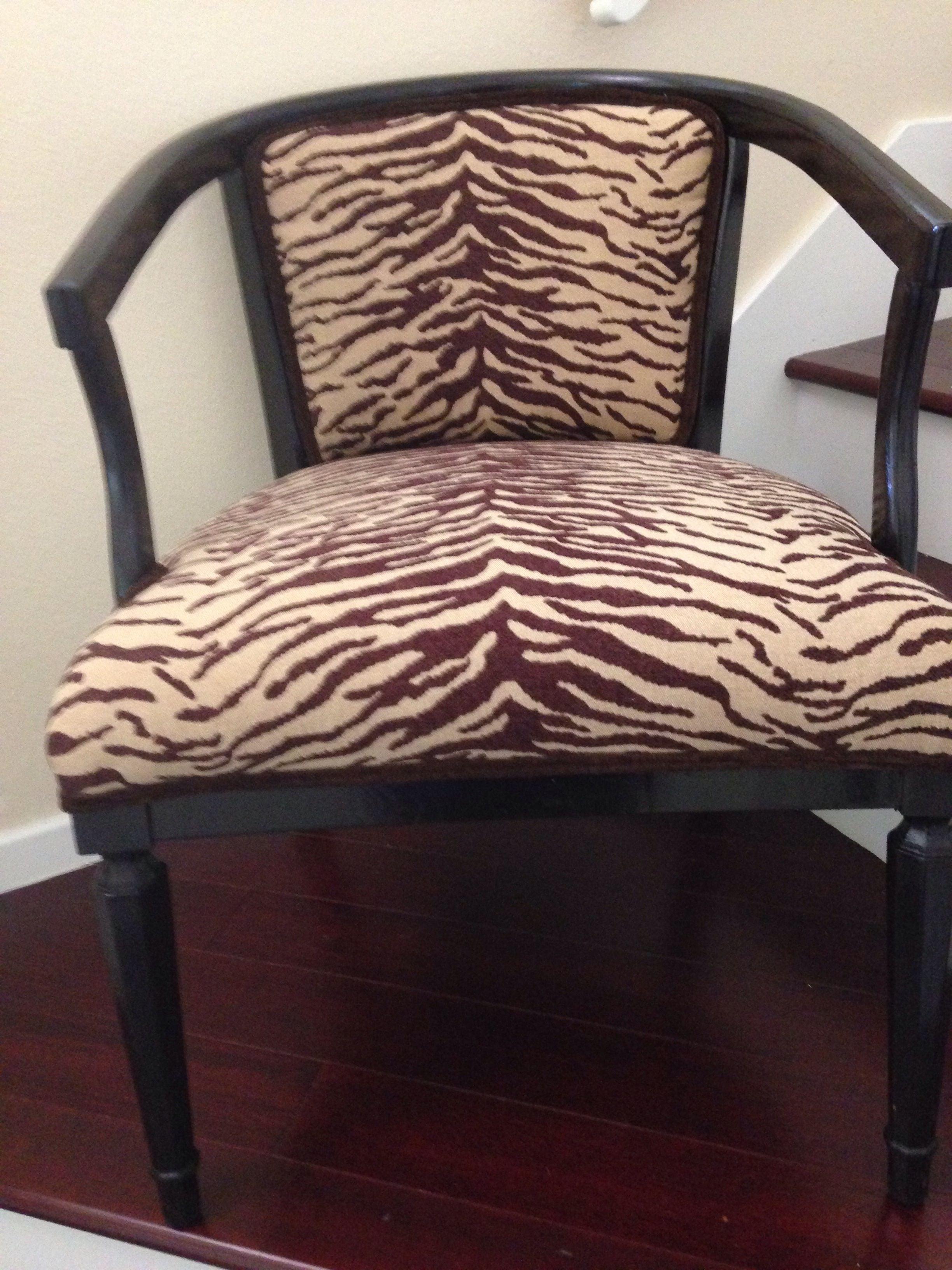 Animal Print Accent Chair  Chairish