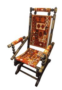 Vintage Platform Spring Rocking Chair | Chairish