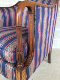 Southwood Mahogany Accent Chairs - a Pair | Chairish