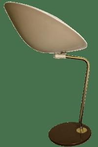 Gerald Thurston for Lightolier Dome Desk Lamp | Chairish