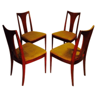 Broyhill Brasilia Walnut Dining Chairs - Set of 4 | Chairish