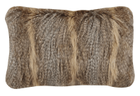 Brown Faux Fur Pillows - A Pair | Chairish